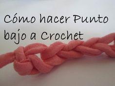 3 Clase - Cómo hacer punto bajo. Aprende Crochet/Ganchillo - YouTube