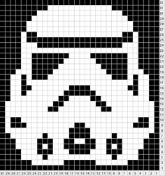 Storm Trooper perler bead pattern. I'd use it for crochet. Maybe a messenger bag front panel.