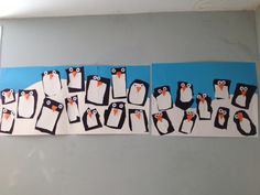 Penguen activity with 3 years at kindergarten