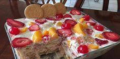 Aprende Cómo Puedes Hacer Un Postre De Galletas María Con Frutas, Delicioso Y Fácil De Preparar. | Receitas Soberanas