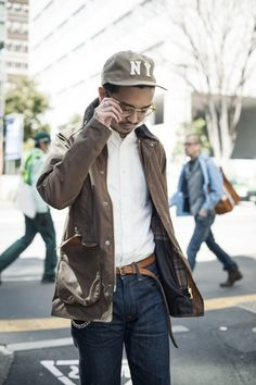 Rugged Never Smooth Barbour Jacket, Tokyo Street Style, Japan Fashion, Men's Fashion, Japanese Street Fashion, Streetwear Fashion, Men Casual, Smart Casual, Work Wear