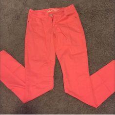 Coral skinny pants Old navy coral chino pants. Size 0. Ankle/skinny. Old Navy Pants Ankle & Cropped
