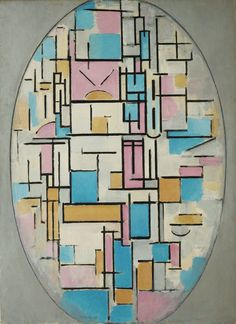 Composition in Oval with Color Planes 1, oil on canvas, 1914