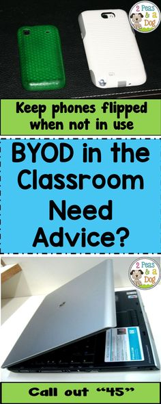 Bring Your Own Device (BYOD) classrooms are a great learning tool. Learn some quick strategies for making BYOD work in your classroom from 2 Peas and a Dog. Teaching Technology, Educational Technology, Technology Integration, Technology Lessons, Technology Tools, High School Classroom, Flipped Classroom, Science Classroom, Classroom Ideas