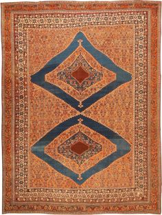 Antique Afshar Persian Rug Width 10 ft 5 in (3.17 m) Length 13 ft 9 in (4.19 m)