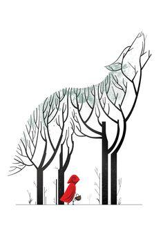 Red Riding Hood by Cristo Salgado Contemporary Illustration Art And Illustration, Food Illustrations, Illustrator, Watercolor Fashion, Grafik Design, Art Plastique, Amazing Art, Art Drawings, Fairy Tales