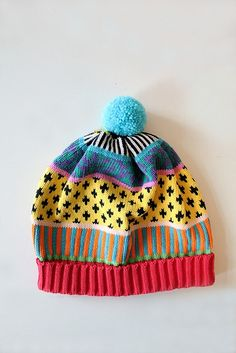 Colorful cap.