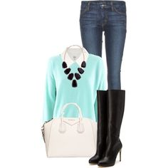 Blouse and a Sweater, created by rarityx on Polyvore
