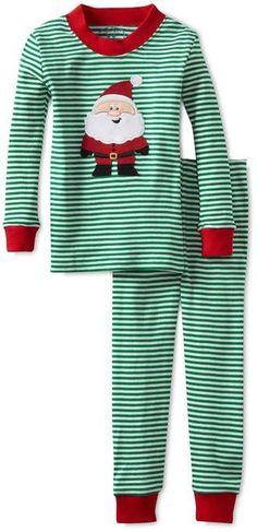 ac6f2f5553 Sara s Prints Santa Claus and Striped Kids Christmas Pajamas Boys Christmas  Pajamas