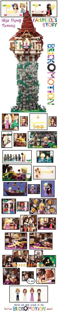 Lego Disney Princess, Disney Princesses, Custom Lego, Lego Ideas, Legos, Presents, Comics, Crafts, Gifts