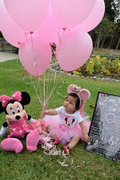 1st birthday photoshoot minnie mouse