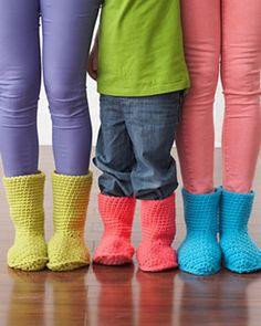 Ravelry: Slipper Boots by Bernat Design Studio