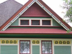 Creative color combos on a historic home in Concord, NC.