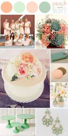 157 Best Mint Coral And Pink Wedding Images Wedding Bouquets