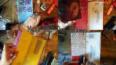 How To Make Your Own STAMPS w/ Recycled Materials on Envelope Journal