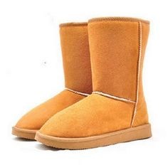 Fashion Mid Calf Round Toe Boots