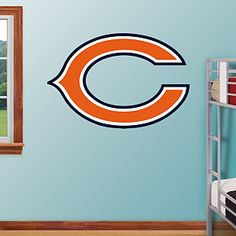 Chicago Bears...need this for when Caisyn gets a big boy room!