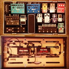 There is something about a clean board. Photo Credit: Instagram @brian_spratt Guitar Pedal Board, Guitar Rig, Guitar Effects Pedals, Guitar Pedals, Audio Studio, Guitar Accessories, Guitar Building, Music Stuff, Pedalboard Ideas