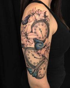 pocket watch tattoo36
