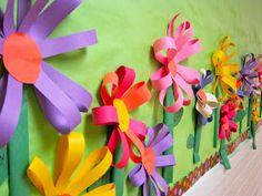 Bonito mural para decorar el aula, interesante para trabajar la primavera.