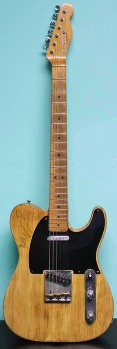 "1952/1967 Fender® Telecaster® (US $75.000) This is the Roy Buchanan owned/played/signed '52 Fender Telecaster. 25.5"" scale. 1 5/8"" nut width. 7.8 lbs. As this was one of Roy's personal guitars, he modified it a bit – '67 Tele neck with jumbo fretwire, 80's pots, brass nut... From Nashville cleans to overdriven blues – just an incredible piece of history and an amazing player."