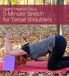 Stretch for Tense Shoulders Tense Shoulders And Neck, Tight Shoulders, Neck And Shoulder Exercises, Shoulder Workout, Back Relief, Fitness Tips, Health Fitness, Shoulder Tension, Tension Headache