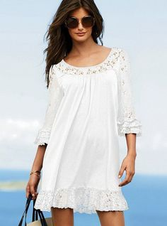 Little White Dresses from Victoria�s Secret