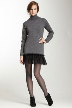 RED Valentino Turtleneck Combo Tunic by Non Specific on @HauteLook
