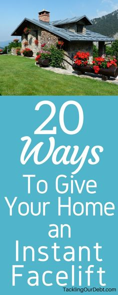 After a few years of living in your dream house, chances are the home you loved is no longer as dreamy or appealing as it once was, and you want to find ways to do simple home renovations based on your renovation budget. Here are 20 easy and inexpensive ways to give your home an instant facelift to freshen up the house you love. Click thru to learn more!