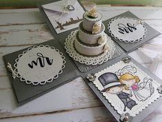 Wedding Cards Handmade, Card Box Wedding, Wedding Gifts, Magic Box, Diy Gift Box, Diy Box, Scrapbook Box, Scrapbooking, Exploding Gift Box