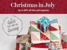 It's July, and you know what that means: It's Christmas in July already! We're giving you up to 60% off kits and supplies, for all those heartfelt holiday creations.