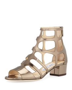 ea8478a29419 Jimmy Choo Ren Mirrored Caged 35mm Sandal