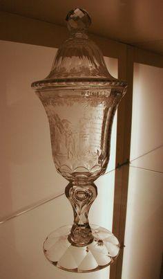 Een glas uit de collectie van Museum Willet-Holthuysen in Amsterdam  - 19/12/2014 - Foto: G.J. Koppenaal