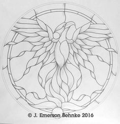 Phoenix Stained Glass Pattern 22 Round 2 prints #StainedGlasses