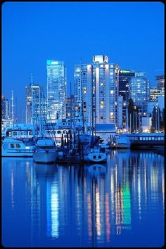 I want to live in Vancouver, British Columbia because I like rain. Vancouver has the fourth highest amount of precipitation in Canada. Places To Travel, Places To See, The Places Youll Go, Travel Things, Travel Stuff, Canada Vancouver, Vancouver Travel, Downtown Vancouver, Vancouver Skyline