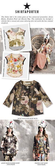 Printed Shorts, Seasons, Blouse, Coat, Creative, Prints, Jackets, Collection, Black