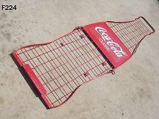 VINTAGE COCA COLA COKE SODA POP ADVERTISING SIGN METAL BOTTLE DISPLAY RACK COOL