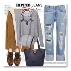 """""""Style This Trend: Ripped Jeans"""" by svijetlana ❤ liked on Polyvore featuring Zara, Frame Denim, Victoria's Secret, Marni, rippedjeans and polyvoreeditorial"""