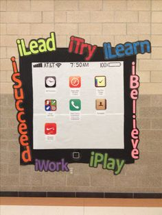 This is a great bulletin board to have in the hallway of any 21st century technology centered school.                                                                                                                                                      More