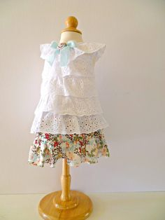 Hey, I found this really awesome Etsy listing at https://www.etsy.com/listing/224664674/country-flower-eyelet-girls-top-spring
