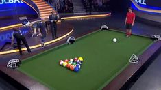 """poolball"" XL-billiards played with soccer balls."