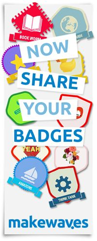 Makebadges - the badge design tool for schools - by Makewaves. Tool for making badges, banners, and avatars