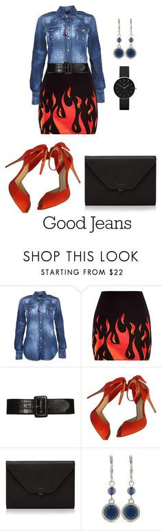 """""""Untitled #2185"""" by nadia-n-pow on Polyvore featuring Dsquared2, Valextra, Nine West, Newgate and distresseddenim"""