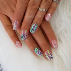 Nail art is a very popular trend these days and every woman you meet seems to have beautiful nails. It used to be that women would just go get a manicure or pedicure to get their nails trimmed and shaped with just a few coats of plain nail polish. Beautiful Nail Art, Gorgeous Nails, Acrylic Nail Designs, Nail Art Designs, Acrylic Nails, Acrylic On Natural Nails, Nails Design, Coffin Nails, Hair And Nails