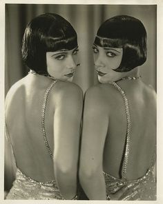 The Dolly Sisters, 1920s (hungarian twins, famous Burlesque & Vaudeville performers)