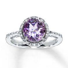 Amethyst engagement ring.