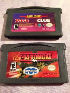 Battleship Risk Clue F-14 Tomcat Nintendo Game Boy Advance Lot