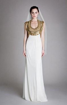 Metallic Wedding Dresses | Bridal Musings Wedding Blog 7 Dress by Temperley London