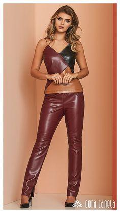 De 8 bedste billeder fra læder bukser | Bukser, Læder og Tøj