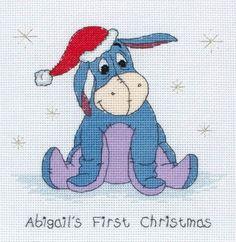 Disney Eeyore 1st Christmas Cross Stitch Kit DPPF022 | eBay
